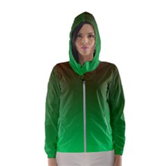Course Colorful Pattern Abstract Hooded Wind Breaker (women)
