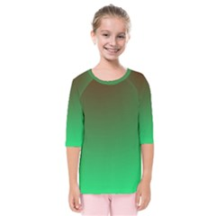 Course Colorful Pattern Abstract Kids  Quarter Sleeve Raglan Tee