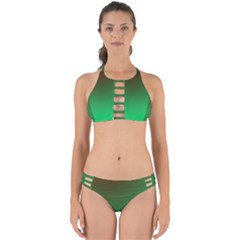 Course Colorful Pattern Abstract Perfectly Cut Out Bikini Set