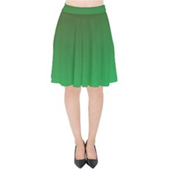 Course Colorful Pattern Abstract Velvet High Waist Skirt