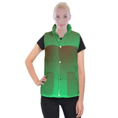 Course Colorful Pattern Abstract Women s Button Up Puffer Vest