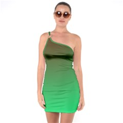 Course Colorful Pattern Abstract One Soulder Bodycon Dress