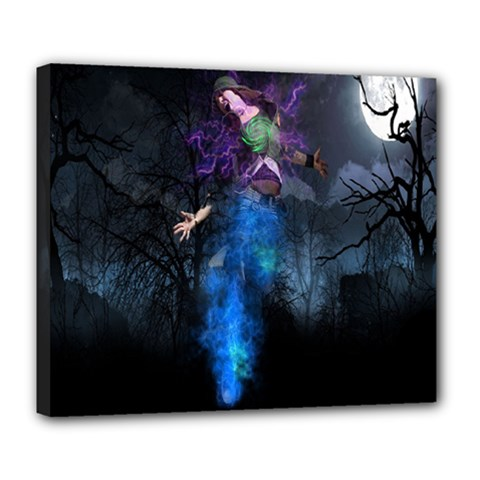 Magical Fantasy Wild Darkness Mist Deluxe Canvas 24  X 20