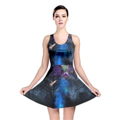 Magical Fantasy Wild Darkness Mist Reversible Skater Dress by BangZart
