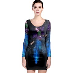 Magical Fantasy Wild Darkness Mist Long Sleeve Bodycon Dress