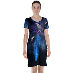 Magical Fantasy Wild Darkness Mist Short Sleeve Nightdress
