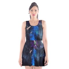 Magical Fantasy Wild Darkness Mist Scoop Neck Skater Dress