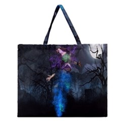 Magical Fantasy Wild Darkness Mist Zipper Large Tote Bag