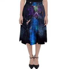 Magical Fantasy Wild Darkness Mist Folding Skater Skirt