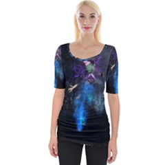 Magical Fantasy Wild Darkness Mist Wide Neckline Tee