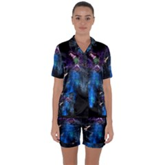 Magical Fantasy Wild Darkness Mist Satin Short Sleeve Pyjamas Set