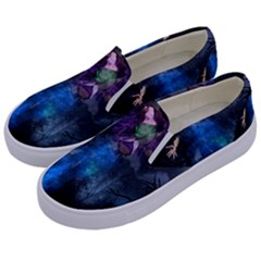 Magical Fantasy Wild Darkness Mist Kids  Canvas Slip Ons by BangZart