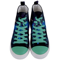 Magical Fantasy Wild Darkness Mist Women s Mid Top Canvas Sneakers