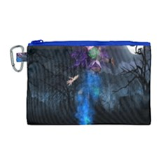 Magical Fantasy Wild Darkness Mist Canvas Cosmetic Bag (large)