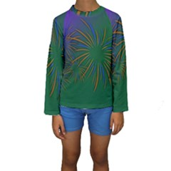 Sylvester New Year S Day Year Party Kids  Long Sleeve Swimwear
