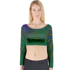 Sylvester New Year S Day Year Party Long Sleeve Crop Top