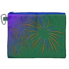 Sylvester New Year S Day Year Party Canvas Cosmetic Bag (xxl)