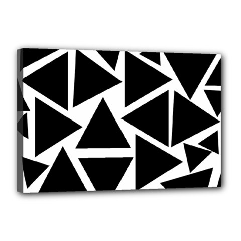Template Black Triangle Canvas 18  X 12