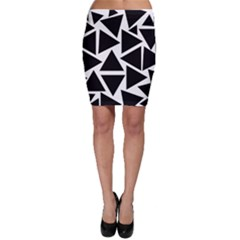 Template Black Triangle Bodycon Skirt