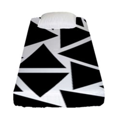 Template Black Triangle Fitted Sheet (single Size) by BangZart