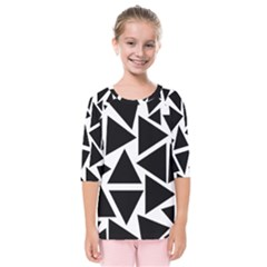 Template Black Triangle Kids  Quarter Sleeve Raglan Tee