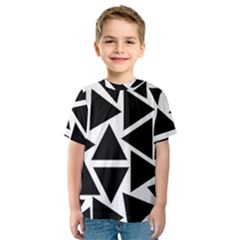 Template Black Triangle Kids  Sport Mesh Tee