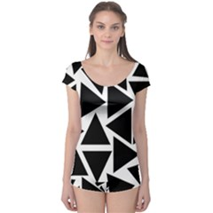Template Black Triangle Boyleg Leotard