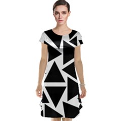Template Black Triangle Cap Sleeve Nightdress by BangZart