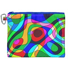 Digital Multicolor Colorful Curves Canvas Cosmetic Bag (xxl) by BangZart