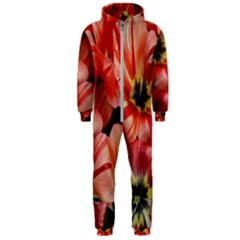 Tulips Flowers Spring Hooded Jumpsuit (men)