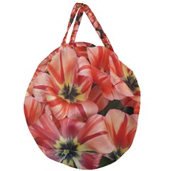 Tulips Flowers Spring Giant Round Zipper Tote