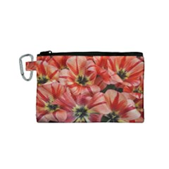 Tulips Flowers Spring Canvas Cosmetic Bag (small)