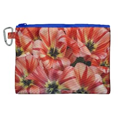 Tulips Flowers Spring Canvas Cosmetic Bag (xl)