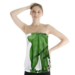 Plant Berry Leaves Green Flower Strapless Top by BangZart