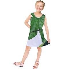 Plant Berry Leaves Green Flower Kids  Tunic Dress