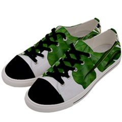 Plant Berry Leaves Green Flower Men s Low Top Canvas Sneakers by BangZart