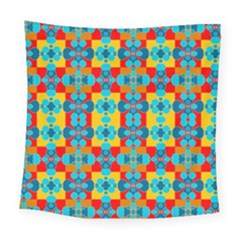 Pop Art Abstract Design Pattern Square Tapestry (large)