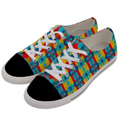 Pop Art Abstract Design Pattern Women s Low Top Canvas Sneakers by BangZart