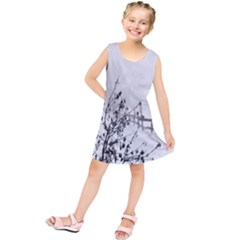 Snow Winter Cold Landscape Fence Kids  Tunic Dress