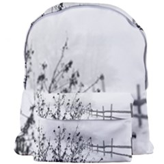 Snow Winter Cold Landscape Fence Giant Full Print Backpack