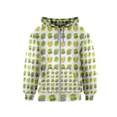 St Patrick S Day Background Symbols Kids  Zipper Hoodie