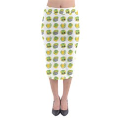 St Patrick S Day Background Symbols Midi Pencil Skirt