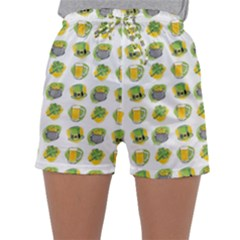 St Patrick S Day Background Symbols Sleepwear Shorts