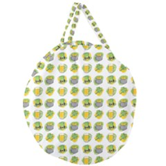 St Patrick S Day Background Symbols Giant Round Zipper Tote