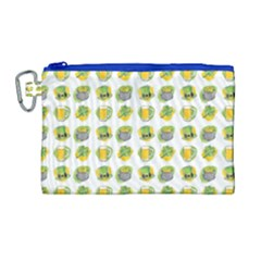 St Patrick S Day Background Symbols Canvas Cosmetic Bag (large)