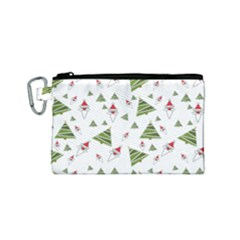 Christmas Santa Claus Decoration Canvas Cosmetic Bag (small)