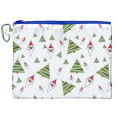 Christmas Santa Claus Decoration Canvas Cosmetic Bag (xxl)