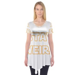 Stay Weird Short Sleeve Tunic