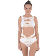 Stay Weird Bandaged Up Bikini Set