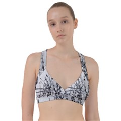 Snow Winter Cold Landscape Fence Sweetheart Sports Bra